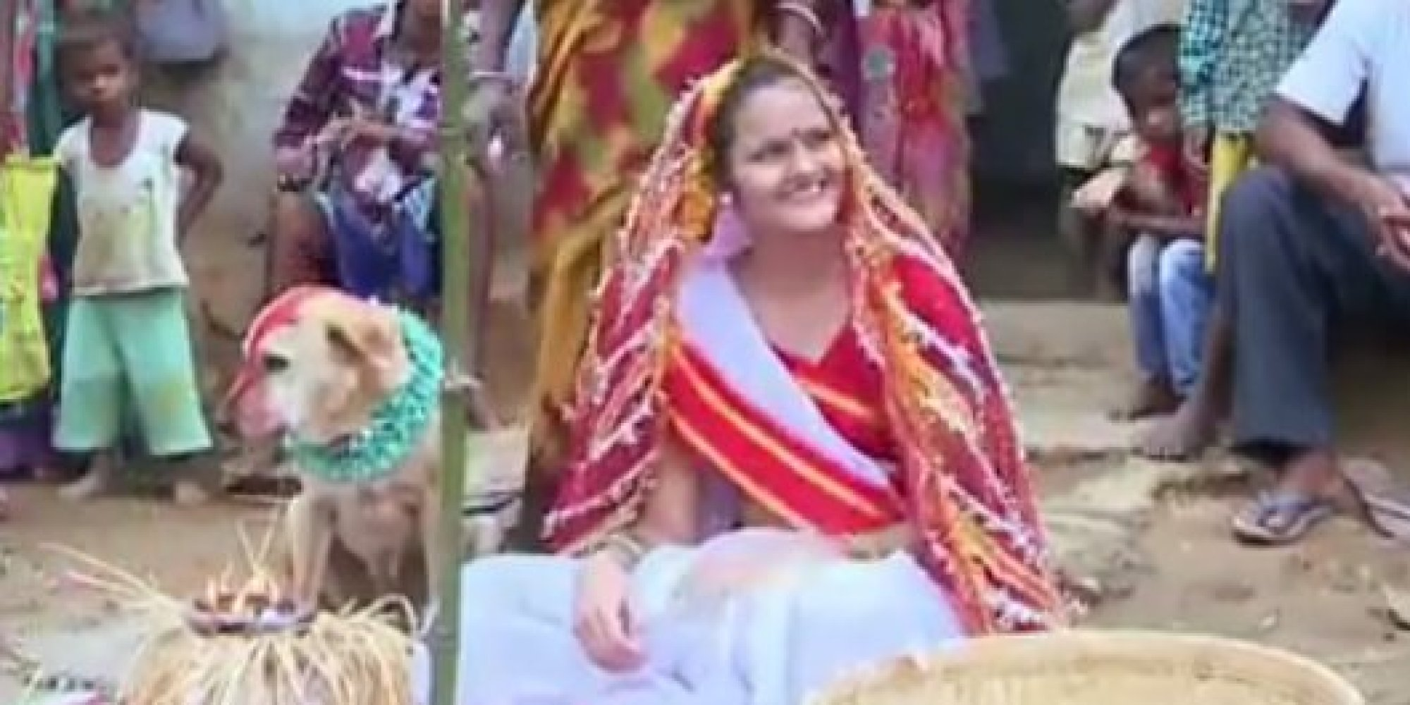 indian girl married dog
