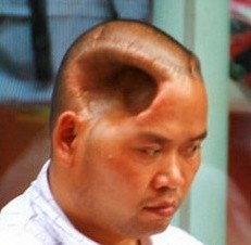 half head Chinese Man