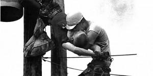 J.D. Thompson and Gilbert Champion kiss