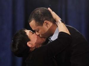 Tiger Woods et Kultida Woods kiss